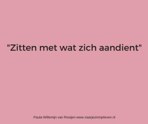 Zitten met wat zich aandient www.naarjezininjeleven.nl