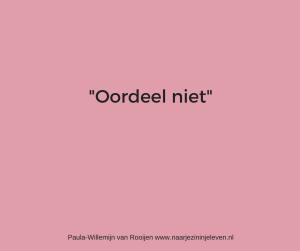Oordeel niet www.naarjezininjeleven.nl