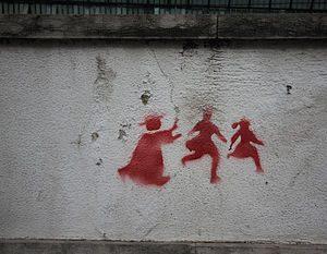 Catholic Church Abuse Scandal Graffiti Portugal 2011 www.naarjezininjeleven.nl
